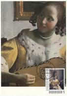 D08756 CARTE MAXIMUM CARD 2011 NETHERLANDS - VERMEER GUITAR PLAYER DETAIL CP ORIGINAL - Künste