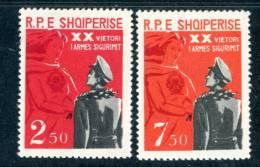ALBANIA / ALBANIE 1963**- Security Service - 2 Val. MNH (set Completo) Come Da Scansione - - Albanie