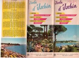 ISOLA D' ISCHIA  ,  Napoli ,  Pieghevole Pubblicitario - Tourisme, Voyages