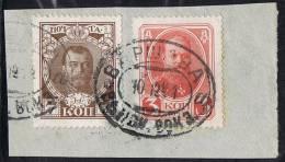 POLISH Warsaw Sation Cancel 10-12-1914 On Mi 84+86