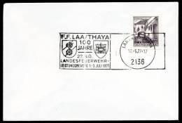 85835) Österreich - Maschinenwerbestempel- Beleg - 2136 LAA/THAYA Vom 17.5.1977 - Landesfeuerwehr- Leistungsbewerb - Machine Stamps (ATM)