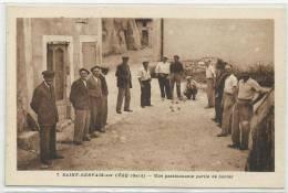 SAINT GERVAIS SUR CEZE (GARD - 30) - CPA - PARTIE DE BOULES - France