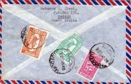 Saudi Arabien, LP-Brief Nach Pforzheim Mit 3 Fach Frankierung Um 1955 - Saudi-Arabien