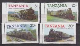D0255 - TANZANIA Yv N°263/66 ** TRAINS - Tanzania (1964-...)