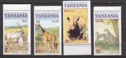 D0256 - TANZANIA Yv N°285/88 ** ANIMAUX ANIMALS - Tanzania (1964-...)