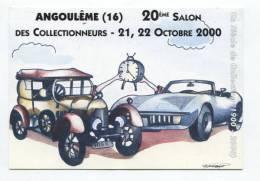 39172 - Carte Postale De Salons De Collection   D'Angoulême (16)    21 Et 22 /10/2000      20eme Salon - Bourses & Salons De Collections