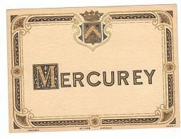 ETIQUETTE - VIN - MERCUREY. - Bourgogne
