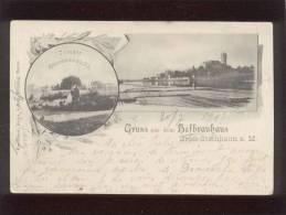 Gruss Aus Dem Hofbrauhaus Gross-steinheim A.M. édit. Heinr. & Brüning Hanau Terasse Aussenansicht - Sonstige