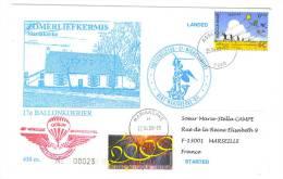 VEND 17e BALLONKOERIER , 2000 , N° 23 / 450 EX + N° 2878-2895 ( COB ) - Postmark Collection