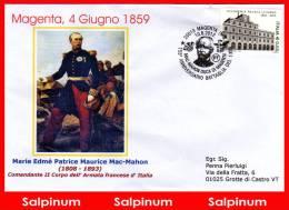 ANNULLO ANNIVERSARIO 153° BATTAGLIA MAGENTA - 1946-.. République