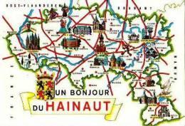 Divers                  Contour Géographique. Un Bonjour Du Hainaut - Belgique