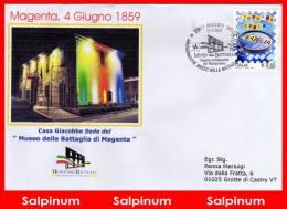ANNULLO BATTAGLIA MAGENTA INAUGURAZIONE MUSEO - 2001-10: Storia Postale