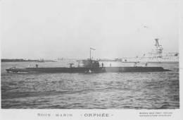 Sous-marin ORPHEE (Marine Nationale) - Carte Photo éd. Marius Bar - Ship/bateau/schiff - Krieg