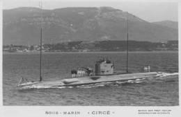 Sous-marin CIRCE (Marine Nationale) - Carte Photo éd. Marius Bar - Ship/bateau/schiff - Guerre