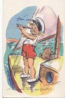 Illustrateurs - Germaine Bouret - Enfants - Bâteau Voilier Marine - Cachet Benet Vendée - Bouret, Germaine