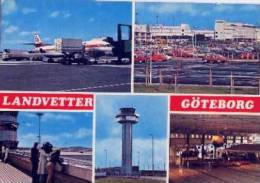 Aerodrome    SWEDEN    GÖTEBORG   AK  1979.     Old Postcard - Aerodrome