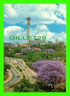 JOHANNESBURG, SOUTH AFRICA - FLOWERING JACARANDA - THE STERN GYMMETRY OF 269-m STRIJDOM TOWER -  ART PUB. LTD - - Afrique Du Sud