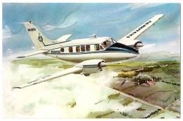 AEREO - BEECH CRAFT QUEEN B-80 - AEROTAXI - AVIANCA COLOMBIA - N. VG. - Vedi Retro - Formato Piccolo - 1946-....: Era Moderna