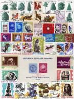 Stamps Lot Rumänien 50 Verschiedene Marken O 30€ Sortiment In Kunst Sport Technik Natur Olympic Art Topic Set Of Romania - Postzegels