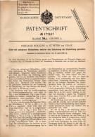 Original Patentschrift - Richard Rougon In St. Peter B. Graz , 1906 , Stuhl Mit Umlegbarer Rückenlehne !!! - Meubles