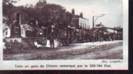 T.512  /  1976  --  INDRE ET LOIRE 37 TOURAINE   --  TRAIN VAPEUR EN GARE DE CHINON AVANT GUERRE - Old Paper
