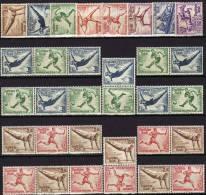 Olympiade 1936 Deutsches III.Reich 609/6+10ZD ** 344€ Turnen Reiten Rudern Olympia Berlin Olympic Se-tenant Of Germany - Se-Tenant