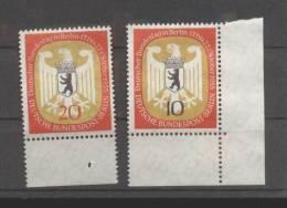 Berlin ** 129-130  Bundestag In Berlin 1955 Rand Eckrand - [5] Berlin