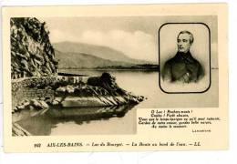 Aix Les Bains - Lac Du Bourget - Route Au Bord De L'eau Portrait Et Poême De Lamartine - Aix Les Bains