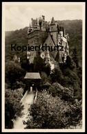 ALTE POSTKARTE BURG ELTZ Mit Person Auf Brücke Wierschem Maifeld Polch Schloss Castle Chateau Postcard Cpa Ansichtskarte - Familias Reales