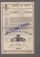 PUB 1883 Distillateur Absinthe Cassis De Dijon Durand Locatelli Rouvière / Royer Hutin / Foulet élixir Docteur Lavalle - Advertising