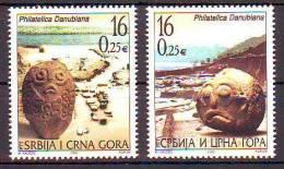 Yugoslavia 2003 Y Art Sculptures Philatelica Danubiana Exhibition Mi No 3145-46 MNH - Unclassified