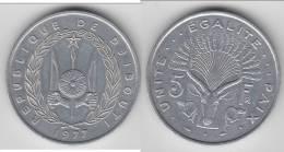 DJIBOUTI **** 5 FRANCS 1977 **** EN ACHAT IMMEDIAT !!! - Djibouti