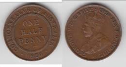 AUSTRALIE - AUSTRALIA **** 1/2 - ONE HALF PENNY 1929 GEORGE V **** EN ACHAT IMMEDIAT !!! - Monnaie Pré-décimale (1910-1965)