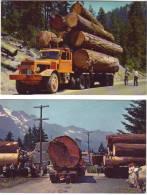 Bois Logs Logging Trucks In The West (Oregon, California)  - Lot De Deux CP - Autres