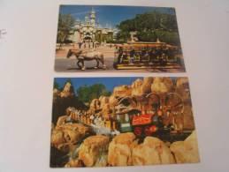 EL - 2 CARTES...CASTLE RIP-ROARIN  FUN - Disneyland