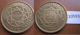 Marruecos 50 Francos 1371 / 1952 DC - Monedas