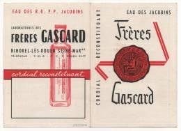 Calendrier 1959 - Laboratoires Des FRERES GASPARD à BIHOREL-LES-ROUEN - - Calendriers
