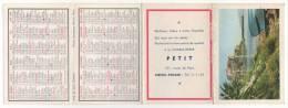 - Calendrier 1966 - Charcuterie  PETIT à MESNIL-ESNARD - Scan Verso - - Petit Format : 1961-70