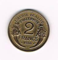 XX  FRANKRIJK 2 FRANCS 1936 - France