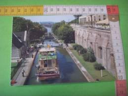 45)canada :ottawa : Canal Rideau  : Peniche , Houseboat ; Ecluse - Ottawa