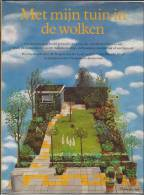 NL.- Boek - Met Mijn Tuin In De Wolken. Door An Rutgers Van Der Loeff Met Foto's Van Marijke Heuff. 2 Scans - Libros, Revistas, Cómics
