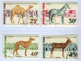 REPUBBLICA DI CIAD, CHAD, REPUBLIQUE DU TCHAD, FAUNA, ANIMALI, 1972, Used, Scott 271-274 - Tchad (1960-...)