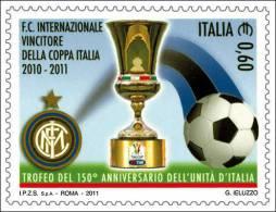2011 - Italia 3318 Inter Campione^ - Francobolli