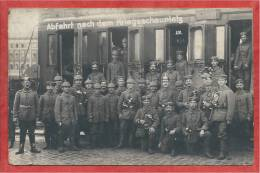 Polen - GRATZ Bei POSEN - Carte Photo - Foto - Abfahrt Nach Dem Kriegsschauplatz - Guerre 14/18 - Posen