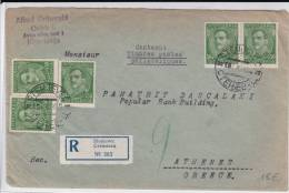 YOUGOSLAVIE - 1933 - ENVELOPPE RECOMMANDEE De STENJEVEC Pour ATHENES (GRECE) - 1931-1941 Kingdom Of Yugoslavia