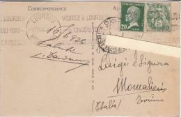 PO6025B# Storia Postale FRANCIA - LOURDES  VG 1926 - Storia Postale