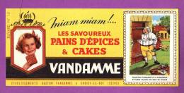BUVARD  -   PAIN D EPICES VANDAMME  -   IMAGES DES ROIS DE FRANCE N° 15  - - Pain D'épices