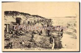 CPA Barneville Plage Vers St Jean De La Riviere - Barneville