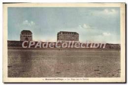 CPA Barneville Plage La Plage Vers Le Casino - Barneville