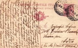INTERO POSTALE  5.6.1916  Per   AVIO (Zona Di Guerra) - Card _ Cartolina Da Centesimi 10 - Storia Postale